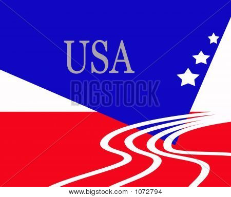 New Age American Flag Patriotic Sign
