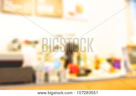 Blur Cafe Background