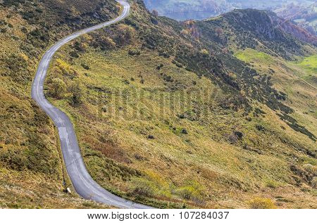 Scenic Road In Mountains