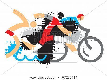 Triathlon Athletes Competition
