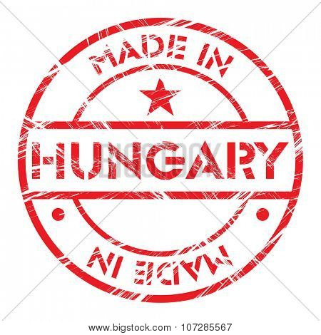Made in Hungary grunge rubber stamp
