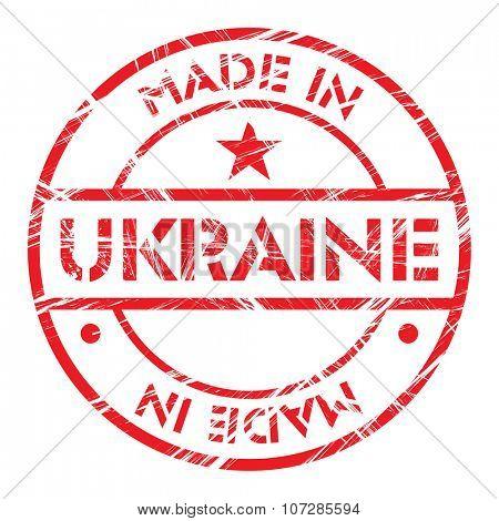 Made in Ukraine grunge rubber stamp