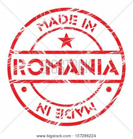 Made in Romania grunge rubber stamp