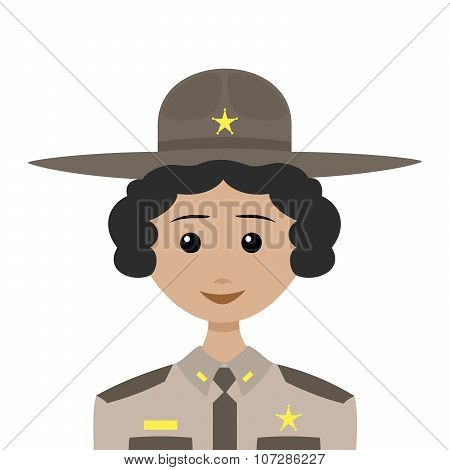Female Sheriff With Black Hair