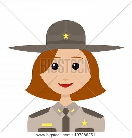 Female Sheriff With Red Hair
