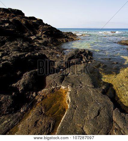 Spain Musk Pond Rock Stone Sky  Water  Coastline
