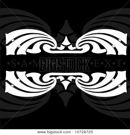 Gray And White Flower Ornate Quad Banner