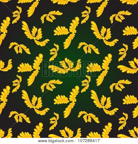 Gold Plant Pattern