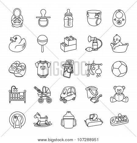 Baby stuff outlines