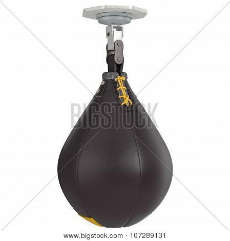 Speed punching bag with laces