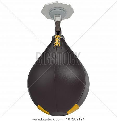 Black speed punching bag