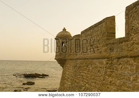 Old Fortress Of Cadiz.
