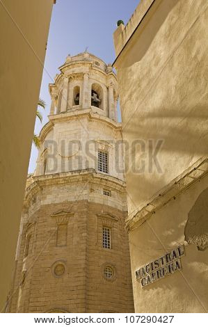 Detail Of Cathedral. Cadiz
