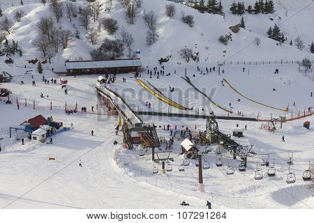 Cableway On Mount Hermon
