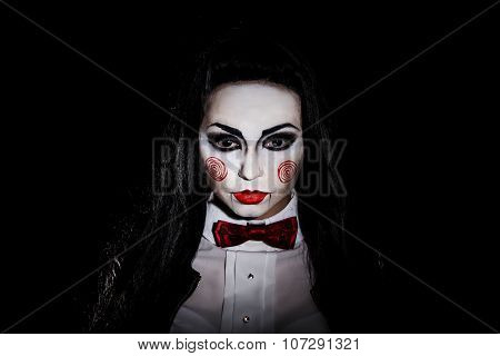 Woman With A Halloween Makeup