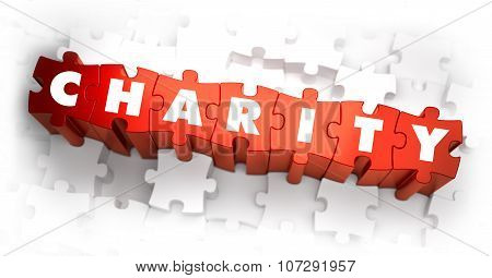 Charity - White Word on Red Puzzles.