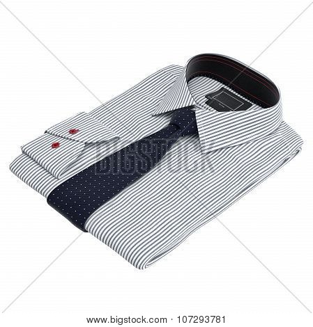 Classic colored men's shirts and ties