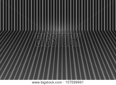 Volume striped vector background gray shades