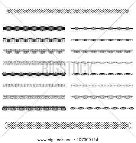 Graphic design elements - divider line set