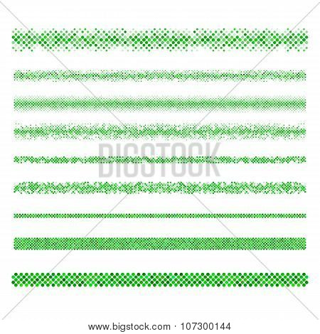Design elements - green mosaic page dividers