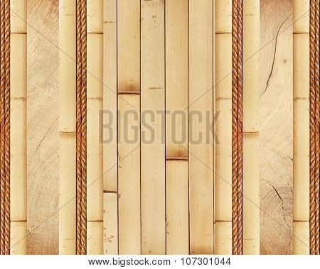 Wood Board With Bamboo Frame