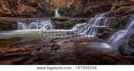 Sgwd Isaf Clun Gwyn falls, South Wales