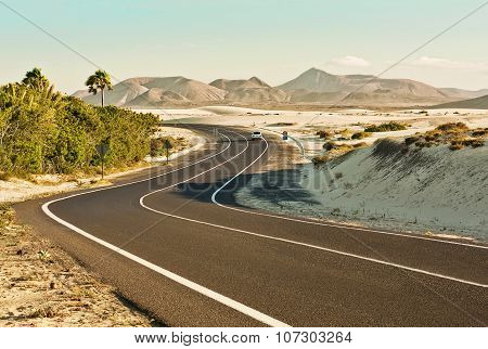 Corralejo Dunes In Fuerteventura