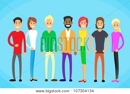Diverse Mix Race Group People Casual Man and Woman Students