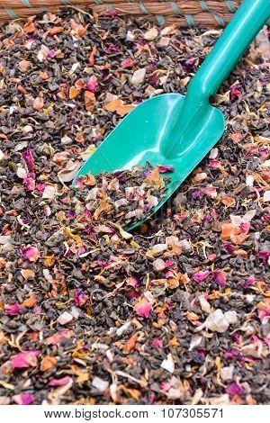 Dried Tea Leaves Texture