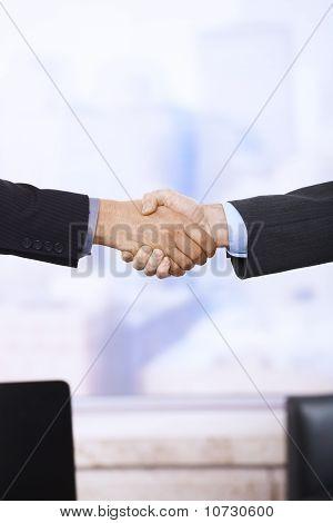 Handshake In Closeup