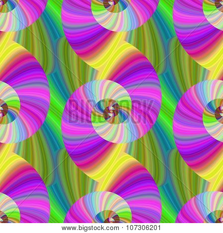 Multicolored spiral fractal pattern in bright colors