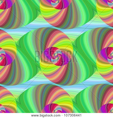 Spiral fractal pattern in bright colors
