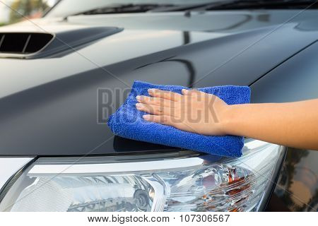 Wiping On Car