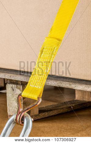 Load Securing With Lashing Strap