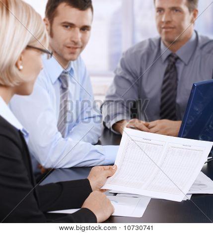 Geschäftsleute Tagung