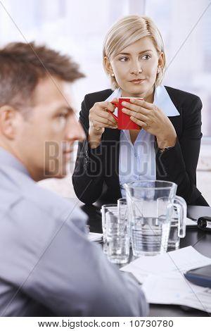 Businesswoman With Coffee Mug