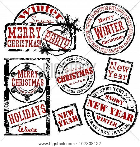 A Set Of Christmas Stamps