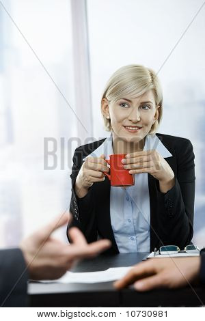Businesswoman With Coffee Mug