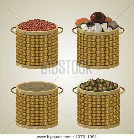 Set Of Four Baskets.