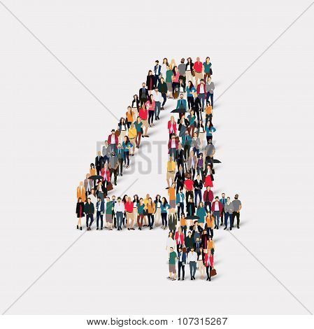 people form  number four