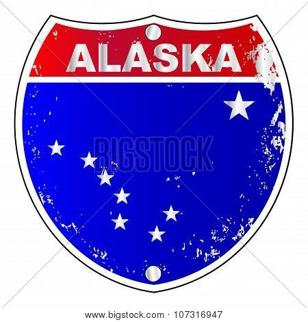 Alaska Interstate Sign