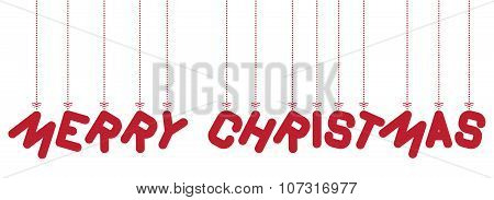 hanging text Merry Christmas