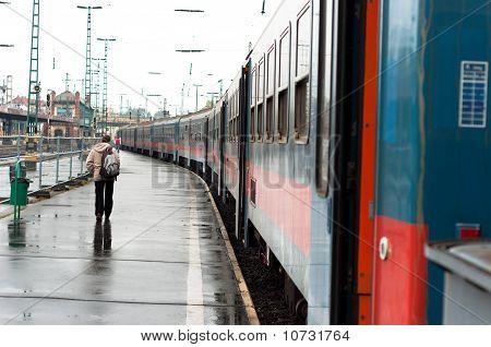 Train At Trainstation