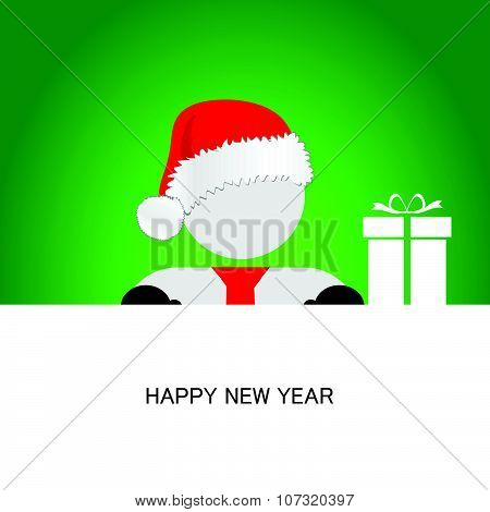 Happy New Year With Snowman Vector