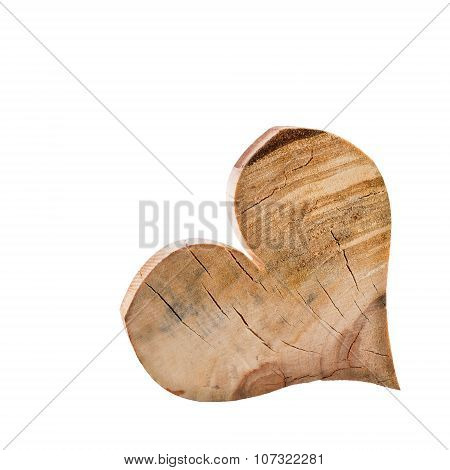 Heart Wood Isolated White