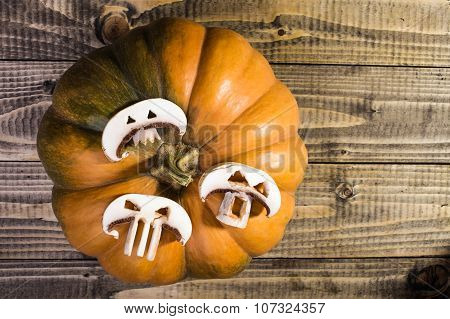 Pumpkin With Slices Of Champignon