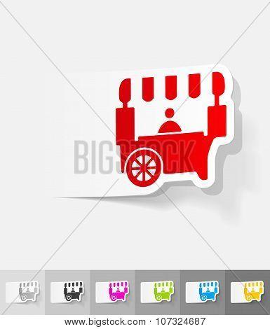 realistic design element. shop on wheels
