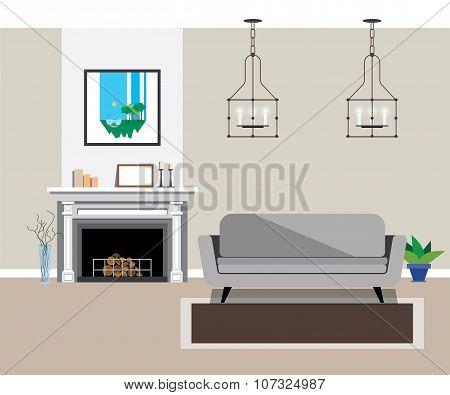 interior fireplace room