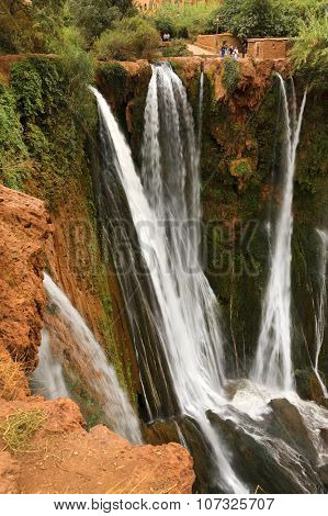 Ouzoud Waterfalls located in the Grand Atlas village of Tanaghmeilt, in the Azilal province in Morocco, Africa