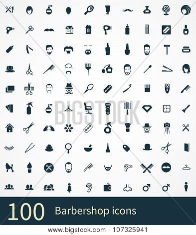 100 Barbershop Icon